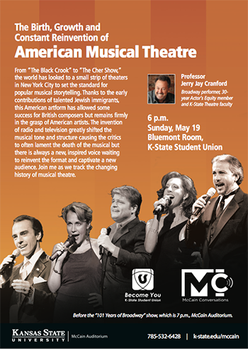The Birth, Growth and Constant Reinvention of American Musical Theatre -- McCain Conversations postcard