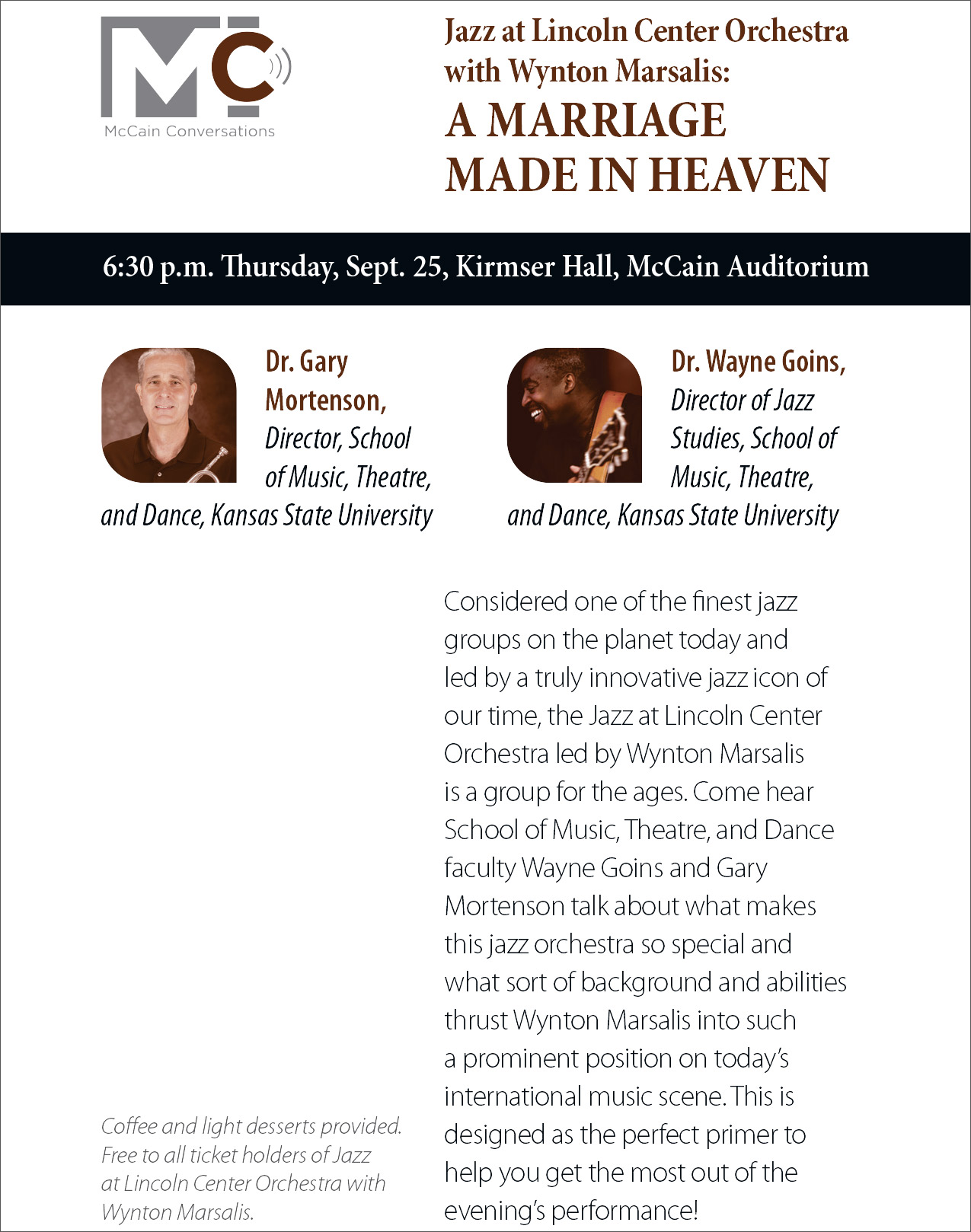 McCain conversations - Jazz at Lincoln Center Orchestra with Wynton Maraslis