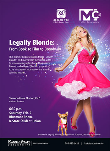 Legally Blonde: From Book to Film to Broadway-- McCain Conversation postcard